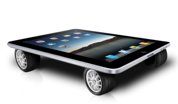 iPad on wheels