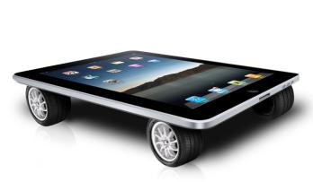 iPad on wheels